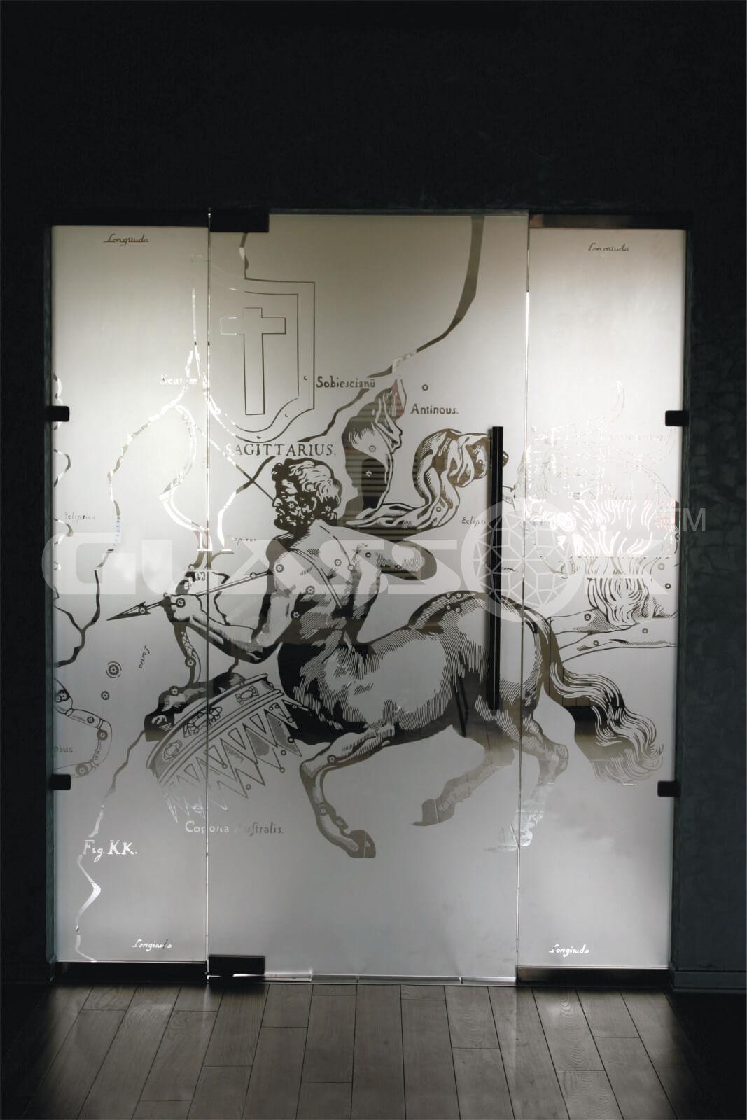 Дверь стеклянная распашная