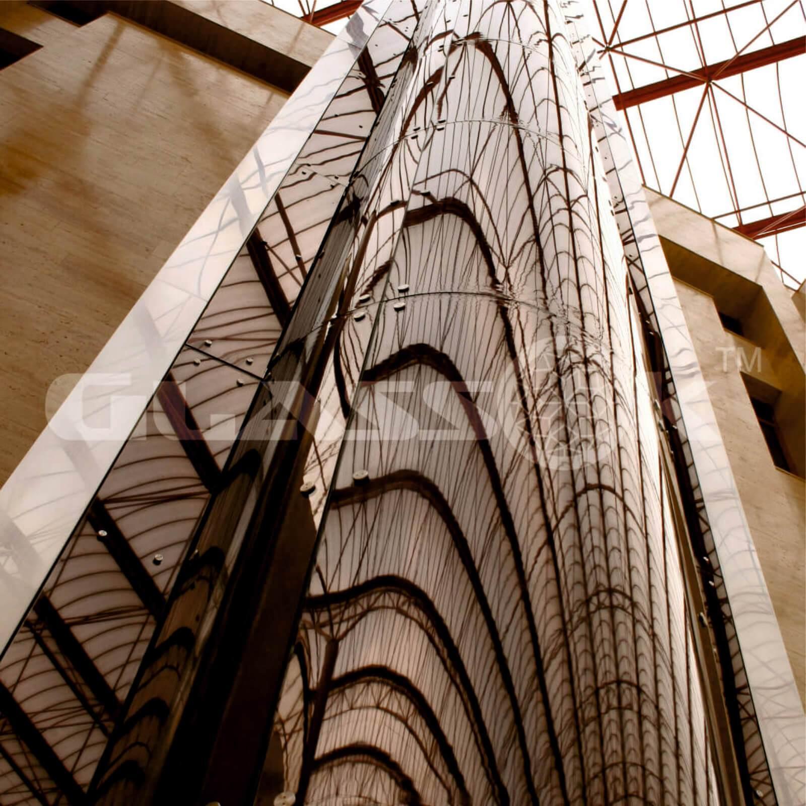Остекление шахт лифта